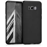 TPU Silikon Case Samsung Galaxy S8+ Schwarz matt