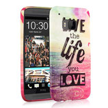 TPU Case Cover HTC One M9 Live the Life