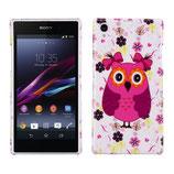 Hard Case Sony Xperia Z1 Eule Owl Pink