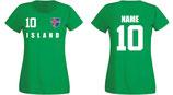 Island WM 2018 T-Shirt Damen Grün