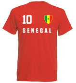 Senegal WM 2018 T-Shirt Druck/Name Rot