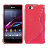 Case S-Line Sony Xperia Z1 Compact Rot