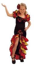 Ballsaal-Flamenco-Kostüm für Mädchen der Altersklasse 6 - 9