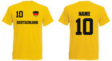 Deutschland WM 2018 T-Shirt Kinder Gelb