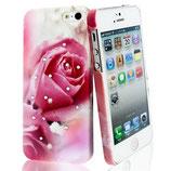 Hard Case Cover Rose Love Strass für Apple iPhone 5