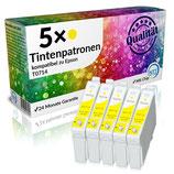 5x Tintenpatronen Epson T0714 Yellow