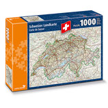 CARTA.MEDIA 7256 Puzzle Schweizer Landkarte