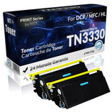 2x Toner Schwarz Brother TN3330 TN3380