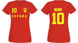 Spanien WM 2018 T-Shirt Damen Rot