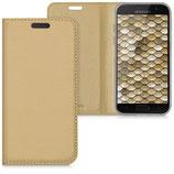 Flip Case Hülle Samsung Galaxy A3 2017 Gold