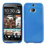 TPU Schutz Hülle HTC One M8 Blau Cover