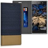 Bookstyle Hülle Sony Xperia XA1 Blau