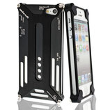 Hard Case Metall f. Apple iPhone 5 Schwarz Bumper Cover