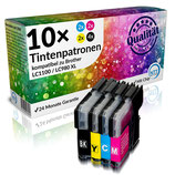 10x Tintenpatronen Brother LC1100 LC980