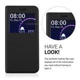 Flip Case Samsung Galaxy S7 Edge Fenster Schwarz
