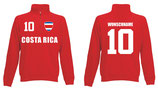 Costa Rica Pullover WM 2018 Druck/Name Rot
