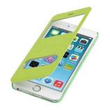 Flip Cover Apple Iphone 6 Plus mit Fenster Grün