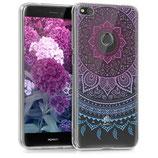 TPU Case Cover Huawei P8 Lite 2017 Sonne Blau Pink