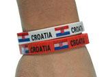 2x Armband Gummiarmband Kroatien WM 2014