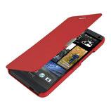 Flip Cover Hülle für HTC One M7 Rot