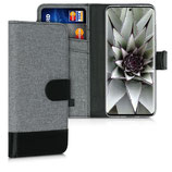 Wallet Case Samsung Galaxy S20 Ultra Canvas Grau-Schwarz