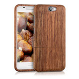 Holz Hülle HTC One A9 Case Dunkelbraun