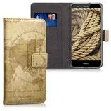 Wallet Case Hülle Huawei P10 Lite Weltkarte