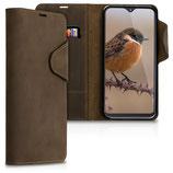 Wallet Case Samsung Galaxy A20e Echtleder Braun