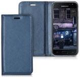 Flipcover Case Samsung Galaxy J3 2017 Dunkelblau