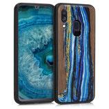 Walnussholz Hülle Samsung Galaxy A40 Farbrush