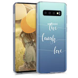 TPU Case Hülle Samsung Galaxy S10 Live Laugh