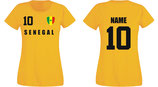 Senegal WM 2018 T-Shirt Damen Gelb