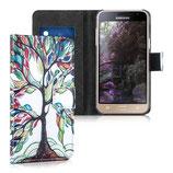 Wallet Hülle Samsung Galaxy J3 2016 Baum
