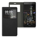 Flip Case Huawei P9 Lite Fenster Schwarz