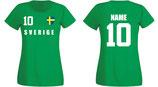 Schweden WM 2018 T-Shirt Damen Grün
