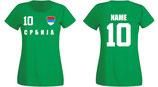 Serbien WM 2018 T-Shirt Damen Grün
