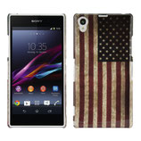 Hard Case Amerika Flagge Sony Xperia Z1