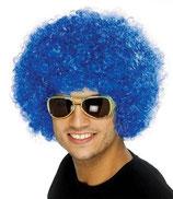 Perücke Lockenkopf Blau Afro