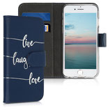 Wallet Case Hülle Apple iPhone 6 / 6S Live Laugh Love