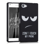 TPU Case Sony Xperia Z5 Compact Dont Touche Schwarz