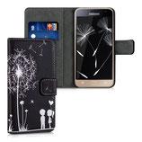 Wallet Case Samsung Galaxy J3 2016 Pusteblume Schwarz