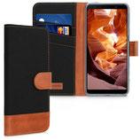 Wallet Case Samsung Galaxy A7 (2018) Schwarz-Braun
