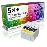 5x Tintenpatronen Epson T1281 Schwarz