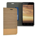 Bookstyle Hülle Wiko Jerry Sand Braun