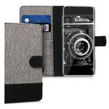 Wallet Case Samsung Galaxy S9 Canvas Grau-Schwarz