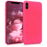 TPU Case Hülle Apple iPhone XS Max Neon Pink