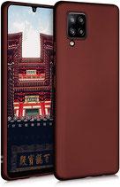 TPU Case Hülle Samsung Galaxy A42 Mettalic Rot