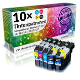 10x Tintenpatronen Brother LC-121-LC127