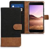 Wallet Case Xiaomi Mi 5X / Mi A1 Canvas Schwarz-Braun