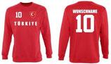 Türkei Pullover EM 2016 Name/Druck Rot